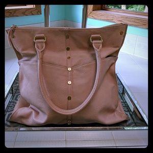 Olivia + Joy Gorge blush w/ gold accents handbag